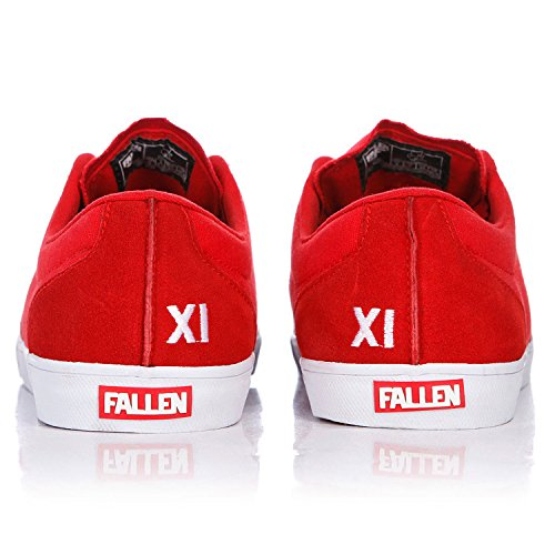 FALLEN SKATEBOARD SHOES CHIEF XI BLOOD RED/WHITE SIZE 12