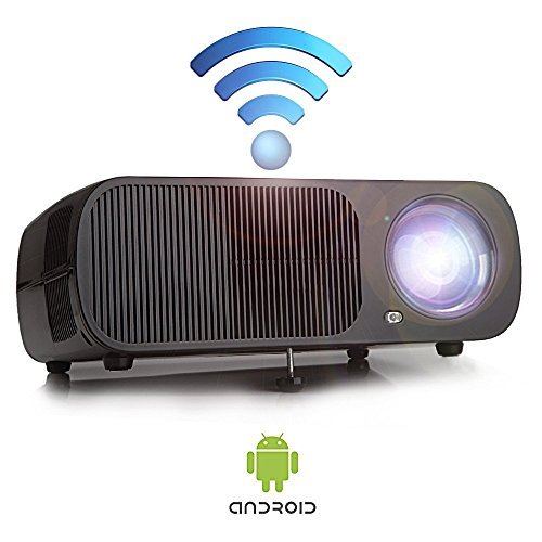 Yuntab Mini Video WiFi Projector Android BL20 200'' Portable 2600 Lumens 3D Best Mini LCD Wireless Home Cinema Theater Projector Supports HD 1080p - Support WIFI by Yuntab