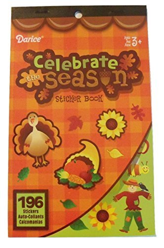 Darice Sticker Book ~ Fall Edition (Celebrate the Season; 196 Stickers)