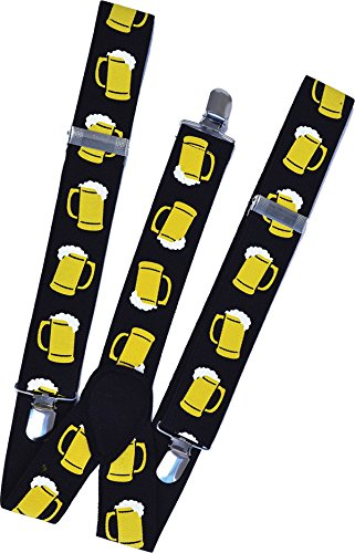 [German Suspenders Fancy Dress Accessory Oktoberfest Stag Do Beer Mug Braces] (German Stag Do Costumes)