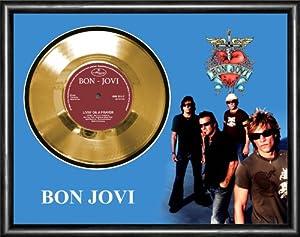 Amazon Com Bon Jovi Living On A Prayer Gold Vinyl Record