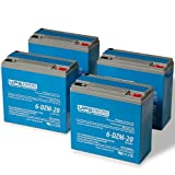 48V 20Ah eBike / Scooter Battery Pack - 6-DZM-20 12V 20Ah Deep Cycle Batteries