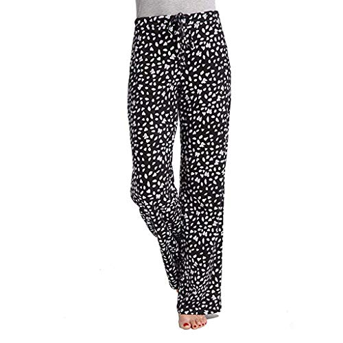 UOKNICE Leggings with Pockets,Tummy Control Womens Casual Stretch Cotton Pajama Pants Simple Trousers Sport Yoga Pants