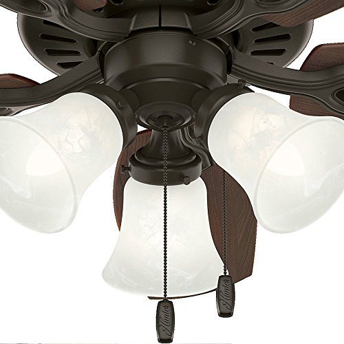 Hunter 52107 Builder Small Room 42-Inch New Bronze Ceiling Fan with Five Brazilian Cherry/Harvest Mahogany Blades and a Light Kit by Hunter Fan Company (Image #9)