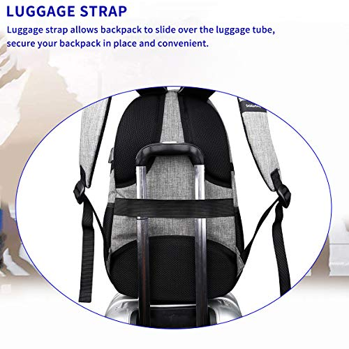 Travel Laptop Backpack with usb Charging Port for Women & Men School College Students Backpack Fits 15.6 Inch Laptop 5