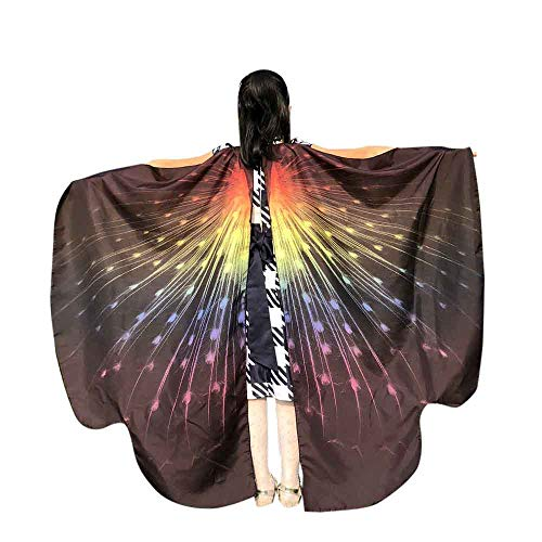 (VEFSU Kid Baby Girl Butterfly Wings Party Shawl Scarves Nymph Pixie Poncho Costume Accessory)