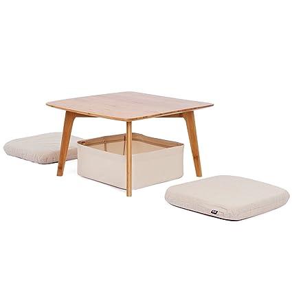 Amazon Com Zen S Bamboo Small Coffee Table Square Tatami Table