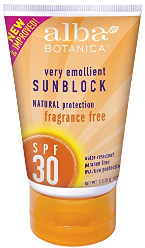Alba Botanica Fragrance Free SPF 30 Sunblock, 4 Ounce - 2 per case. ()