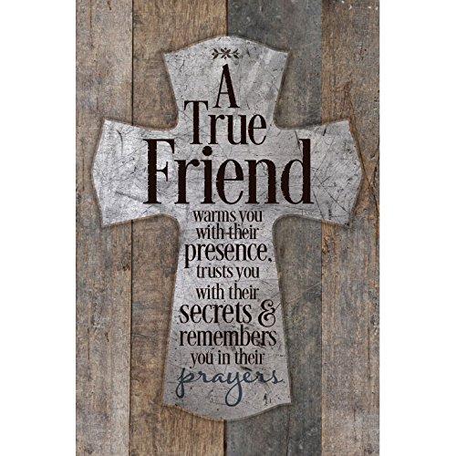 Dexsa A True Friend Warms You.New Horizons Wood Plaque