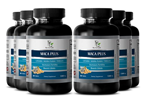 Natural sex pill for longer sex men - MACA PLUS - Maca root for weight gain - 6 Bottle 360 Tablets by PL NUTRITION