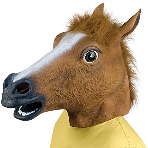 (Parties Unwrapped UK Horses Head Godfather Brown Fancy Dress Costume)