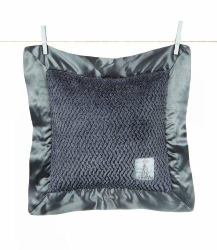 """Little Giraffe Luxe Twist Baby Pillow, 14"""" x 14"""" - Charcoal"""