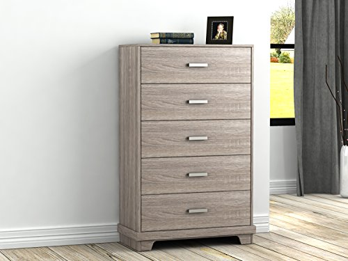 Homestar Albany Chest with 5 drawers in Sonoma Finish ()