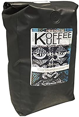Koffee Kult Zimbabwe Coffee Beans - Highest Quality Delicious - Single Origin- Whole Bean - Fresh Roasted Gourmet - Aromatic Artisan Coffee - 1 Lb Bag