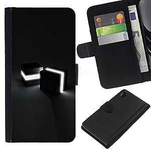 EJOY---La carpeta del tirón la caja de cuero de alta calidad de la PU Caso protector / Sony Xperia Z2 D6502 / --Cubos de luz