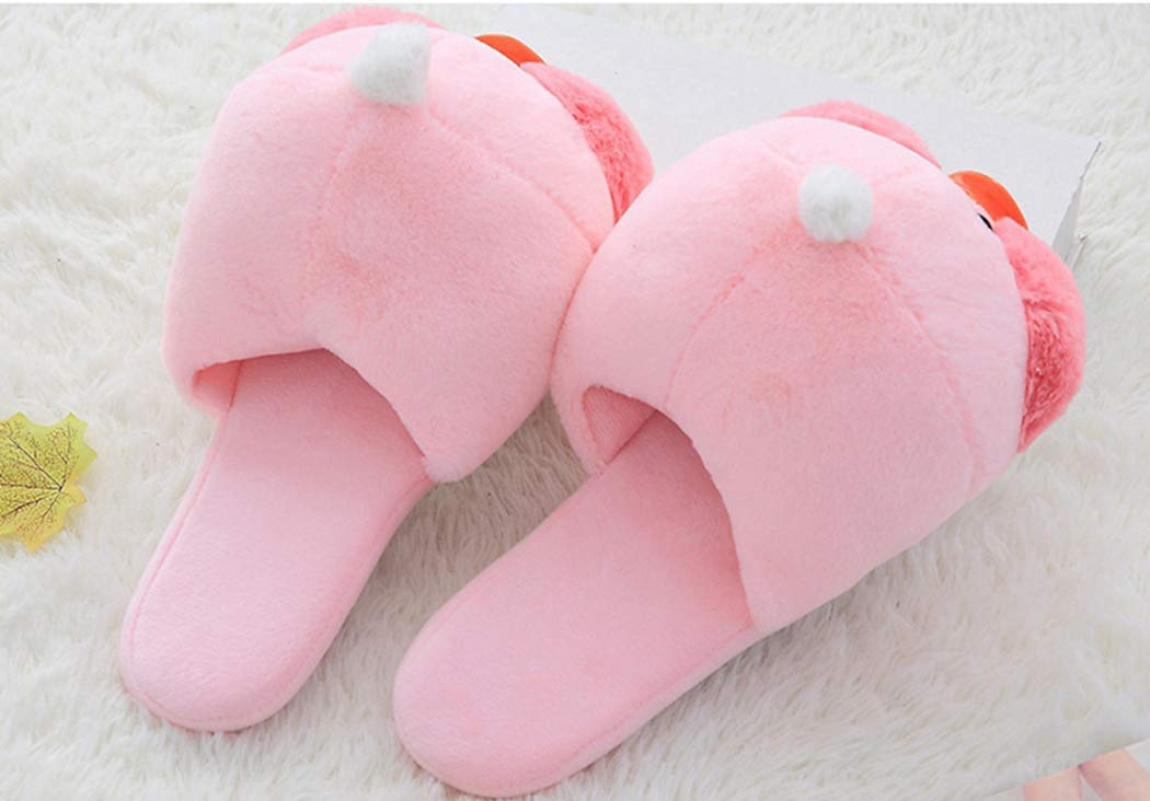 Nafanio Women Winter Cotton Slippers Cartoon Duck Creative Warm Funny Arch Support Girl Lovely Home Bedroom Shoes