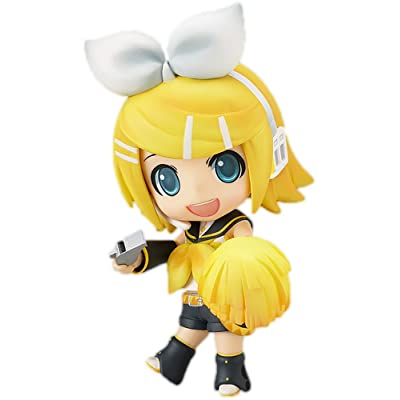 Good Smile Vocaloid: Kagamine Rin Nendoroid Action Figure Cheerful Ver: Toys & Games