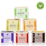 Brenner&Co Handmade Organic Bath Soap Set For Body And Face, 15.5 Oz, 100% Natural Product, 6 Bars Different Scents For Women And Men