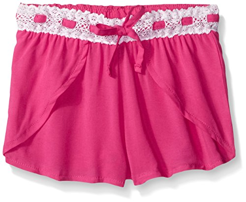 Limited Too Girls' Fashion Pull-on Short, PE80-Neon Hot Pink, 5/6