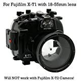 CamDive 40m/130ft Underwater Waterproof Camera Housing Case for Fujifilm X-T1 Can Be used with 18-55mm Lens