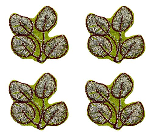 Gms Patch - Peegli Vintage Embroidered Handwork 24 Pcs of Appliques Green Dress Patches DIY Sewing Craft Supplies