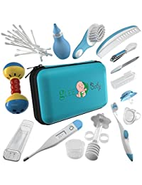 32 Pieces Baby Grooming Kit | 100% Safe Health Care Pack | Made from High-Grade Stainless Steel & BPA-Free Plastic | Nursery Essential Set for Babies | Unisex | Includes Infant Comb , Nail Clipper BOBEBE Online Baby Store From New York to Miami and Los Angeles