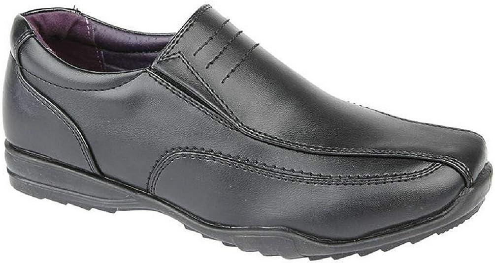 Boys School Shoes Memory Foam Faux