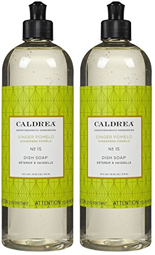 Caldrea Liquid Dish Soap - 16 oz - Ginger Pomelo - 2 pk
