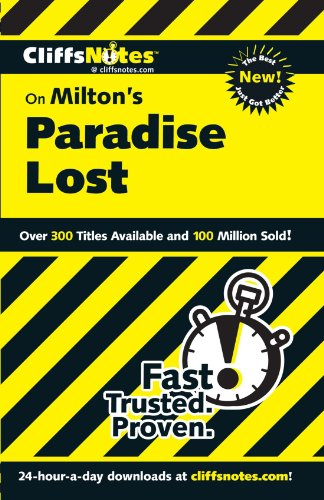 CliffsNotes On Milton's Paradise Lost (Cliffsnotes Literature Guides)