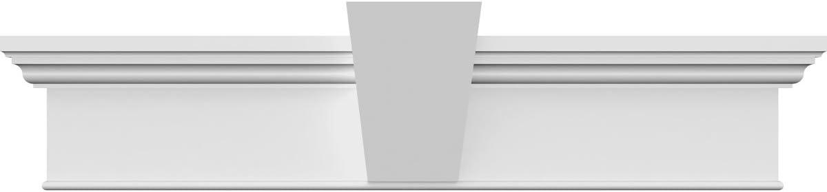 Ekena Millwork CRH06X45 Crosshead 45 Bottom Width x 48 1//2 Top Width Factory Primed White