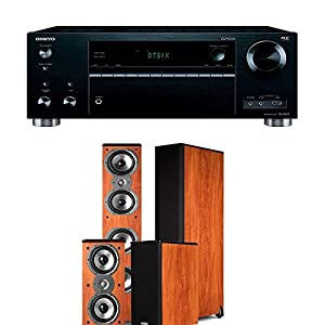 onkyo rz710. onkyo tx-rz710 7.2-channel network a/v receiver + polk audio tsi 500 200 - home theater package (cherry) rz710