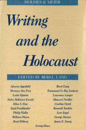 Writing and the Holocaust