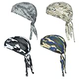 Sweat Wicking Skull Cap Beanie Helmet Liner for Cycling Accessories Adjustable Bandana Head Wrap That Fits Perfectly for Active Use Breathable Chemo Hats for Your Loved One Pack of 4