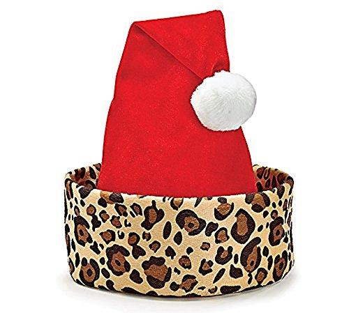 Burton and Burton Cheetah Print Santa Christmas Hat