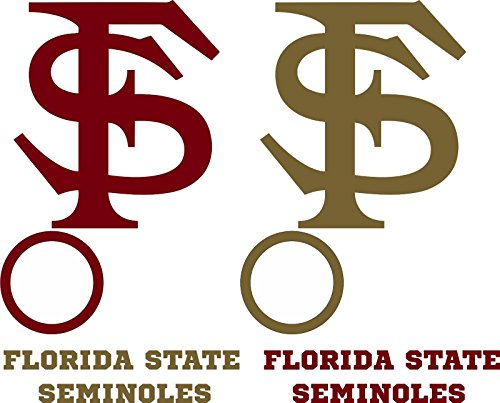 Burgundy Vinyl Bean Bag - Florida State Seminoles Cornhole Decal Set - 6 Cornhole Decals Free Circles