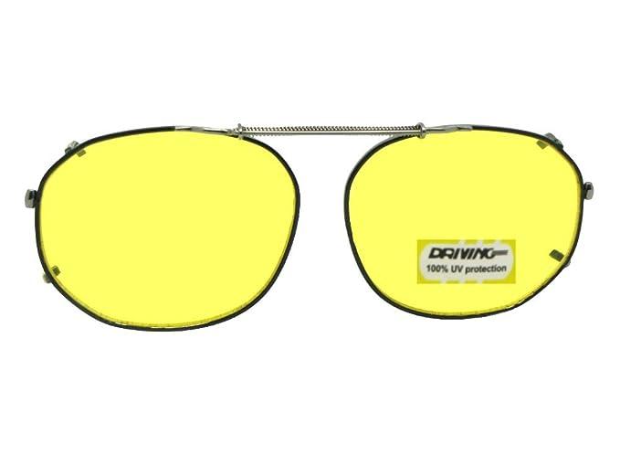 Amazon.com: Redondo Cuadrado Amarillo no polarizadas clip en ...