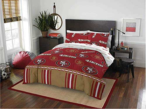 Sports Bedding San Francisco 49ers Queen Comforter & Sheets (5 Piece Bed in A Bag)