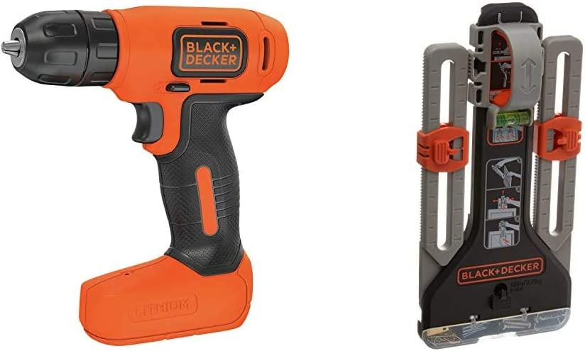 BLACK+DECKER 8V MAX Cordless Drill/Driver with MarkIT Picture Hanging Kit (BDCD8C & BDMKIT101C)