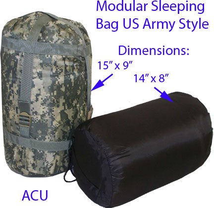 Mil-Spec Adventure Gear Plus MSA02-5739075000 3-Season Sleeping Bag, Army Digital by Mil-Spec Adventure Gear Plus