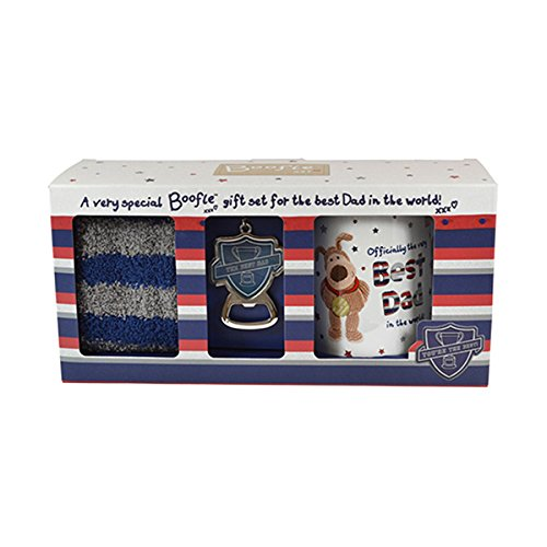 Boofle Best Dad Mug Socks & Keyring in a Gift Box Father's Day Boxed Set Xpressions