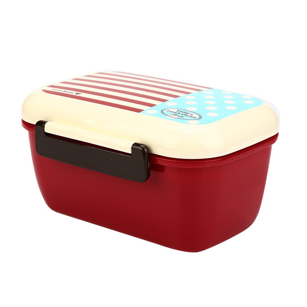 Lunch Box,Compartment Insulated Leakproof Meal Prep Container Eco-Friendly Reusable,Double Deck Design(B)