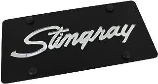 product image for Chevrolet Corvette Stingray License Plate on Black Steel