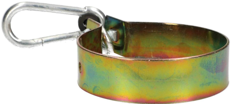 KOTARBAU Schaukelhaken 80 mm mit Karabinerhaken Schaukelschelle Schaukelbefestigung Rundholz Manschettenhaken Gold Verzinkt Hakenhalterung Schaukel