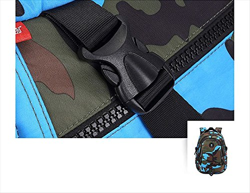 Camouflage Backpack, Large Capacity Water-Resistant Student Children School Bag by MATMO (Image #6)