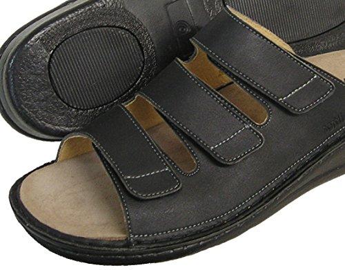 Fidelio Mens Mjuk-line Glid Sandal 375.023 (svart)