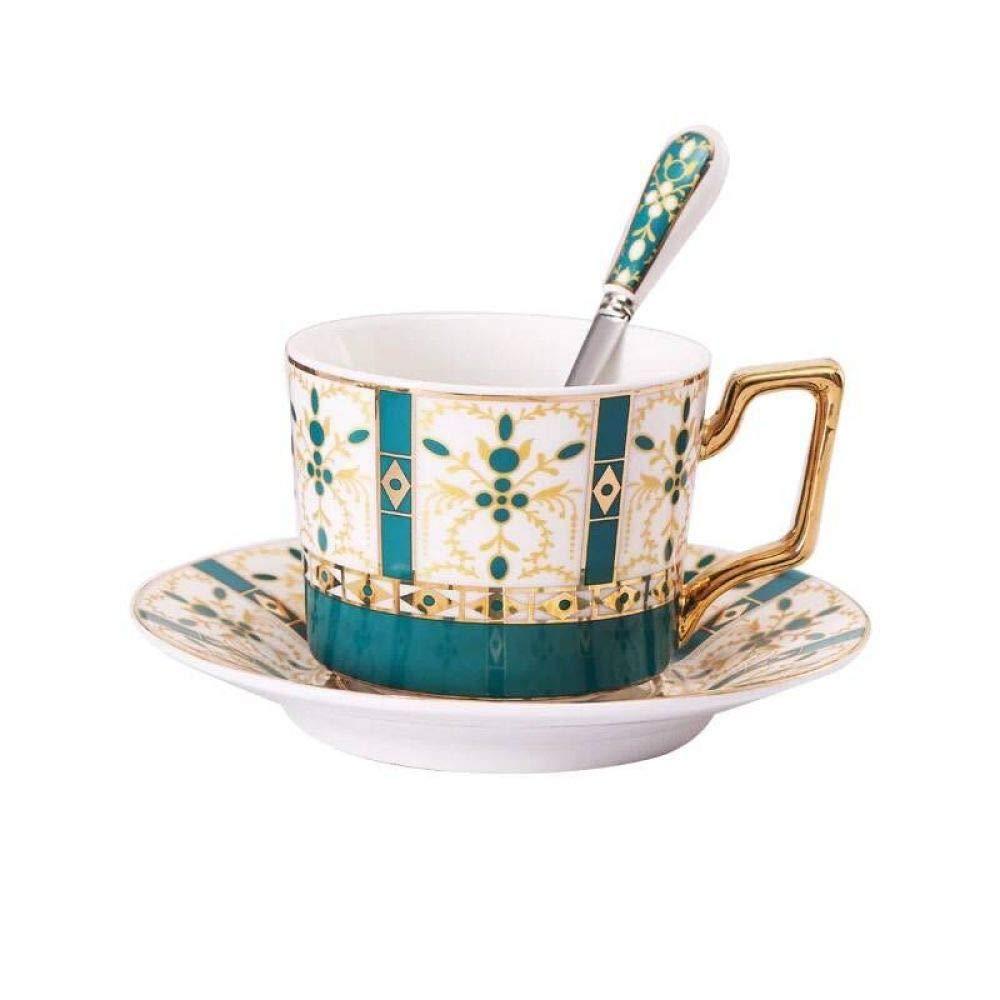 qwdf Conjunto de platillo y Taza de café de cerámica Europea Tarde ...