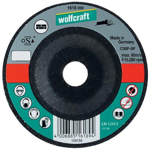 Wolfcraft 1623099 1623099-1 Disco de Cortar para Piedra, Cubo deportado, Granel diam. 125 x 2,5 x 22,23 mm, Plata