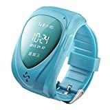 Gogo First Waterproof Gsm/ Gprs/ Gps 2 Way Talk Tracker Babysiter Smart Watch Compatible with Kids Children Child with Real-time Tracking, Geo-fencing, Phone Options Functions for Smartphones - Pink (Blue)