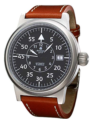 Aeromatic 1912 Mens Automatic Wristwatch Leather Strap A1143X