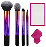 (US) Real Techniques--Color and Contour Set--Makeup Brush and Sponge Set--For Liquid, Cream or Powder Blush, Bronzer, and Lip Makeup